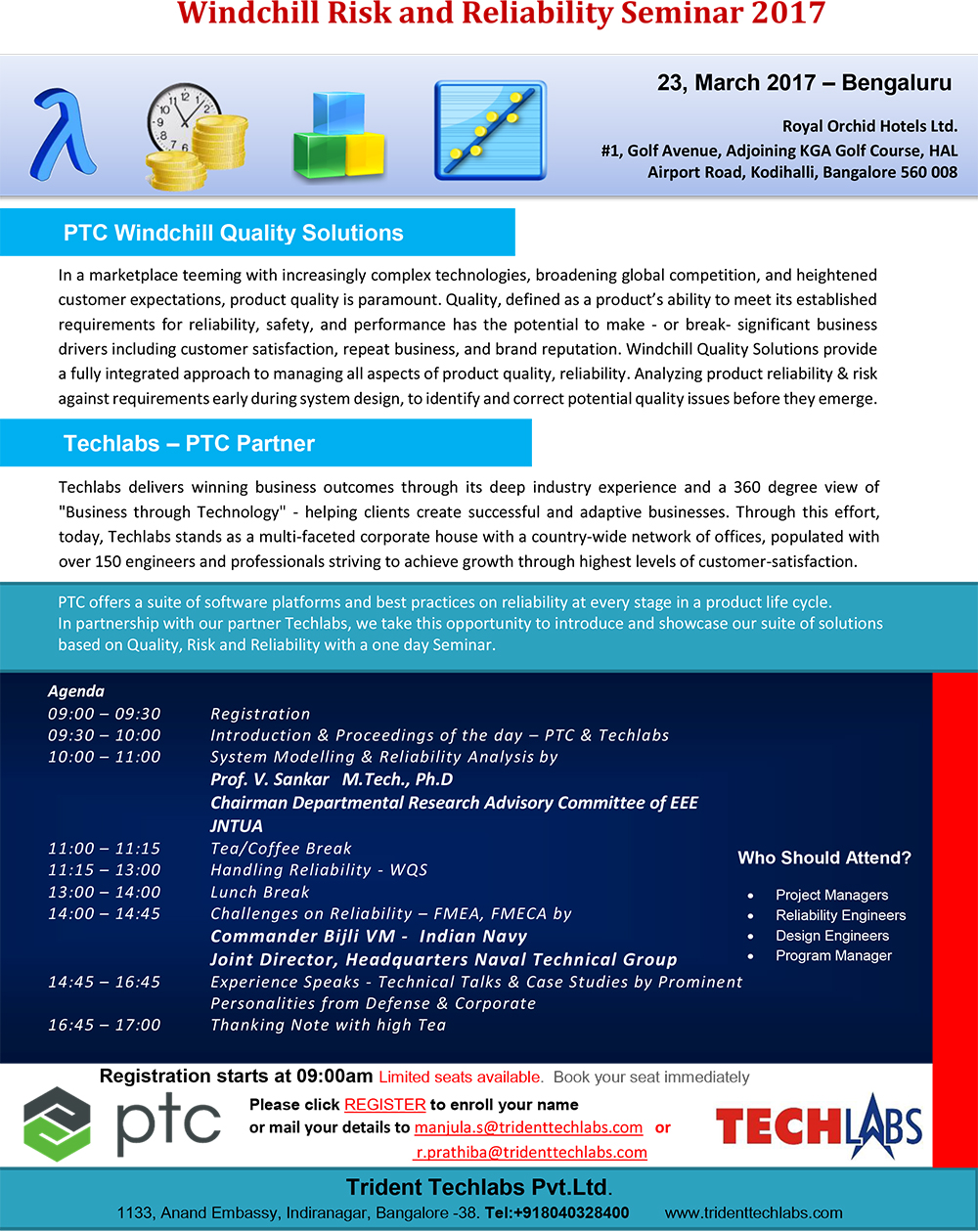 Events Techlabs Electronic Circuit Design And Simulation Software Details Anna Invitation Windchill Risk Reliability Seminar 2017